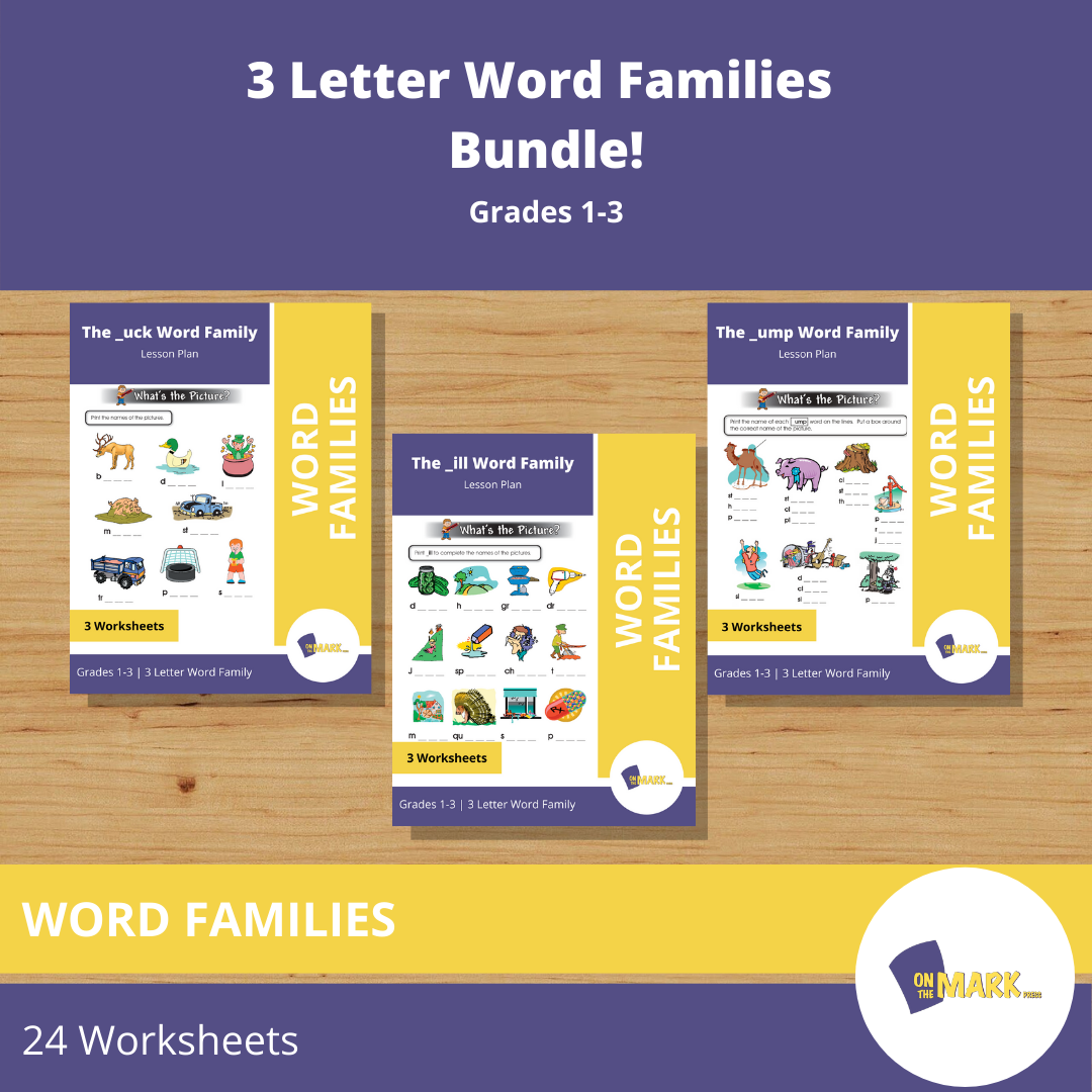 3 Letter Word Families Bundle!