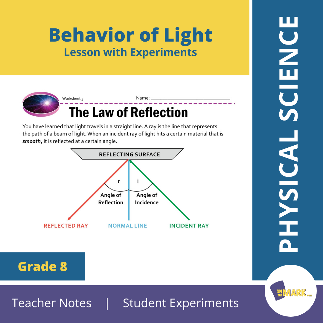 Behavior of Light Grade 8 Lesson with Experiments