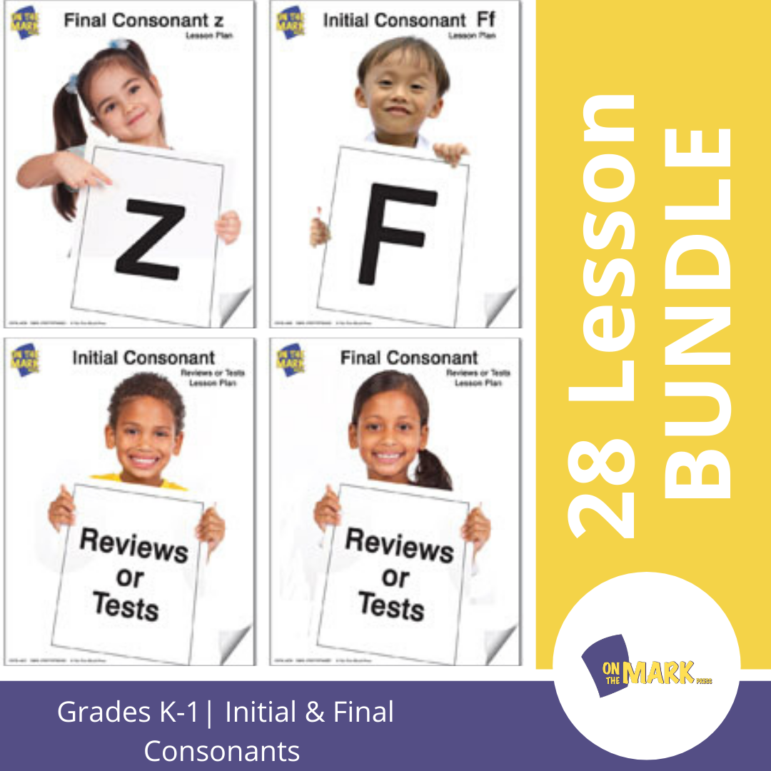 Initial & Final Consontants 28 Lesson Big Bundle! Grades Kindergarten To 1