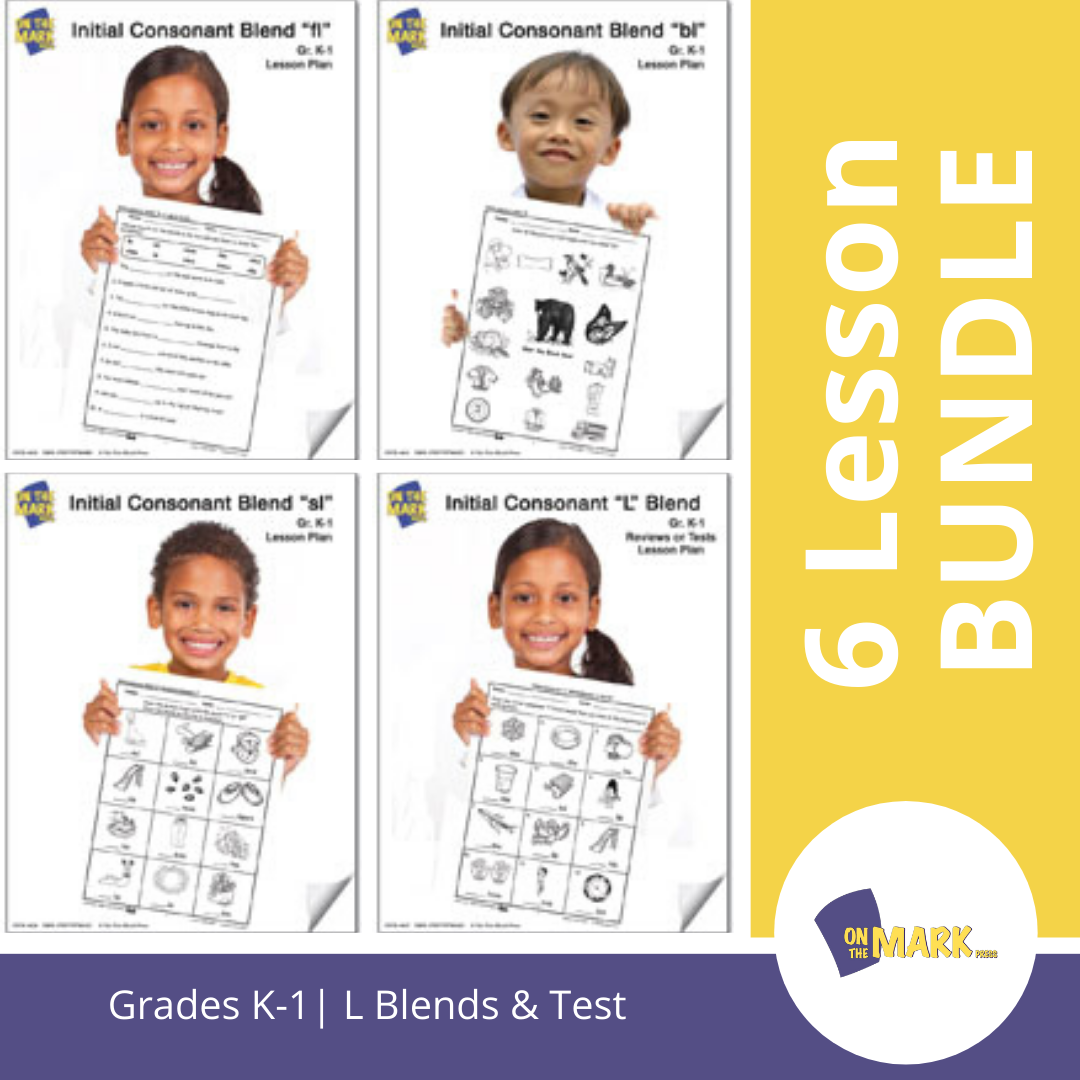 L Blends: 6 Lessons & Test Bundle! Grades K-1
