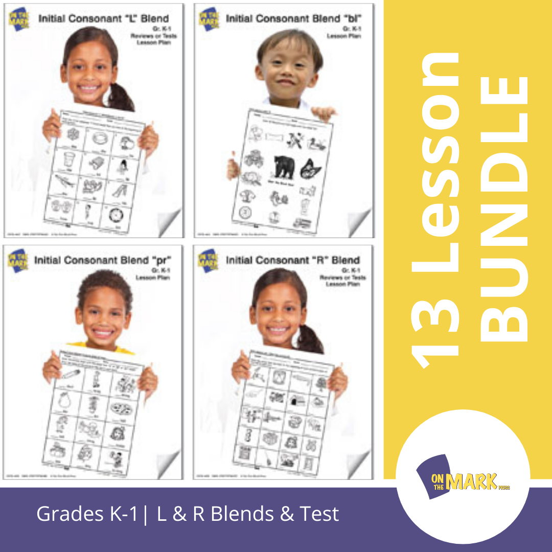 L & R Blends Big Bundle: 13 Lessons & Test Bundle! Grades K-1