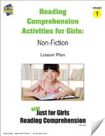 Reading Comprehension Activities For Girls: Non-Fiction Grade 1