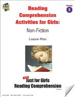 Reading Comprehension Activities For Girls: Non-Fiction Grade 5