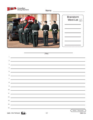 Canadian Military Story Starters Grades 4-6