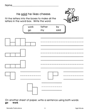 Beginning Sight Words Gr. 1-2