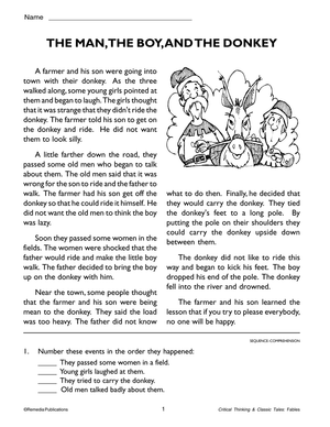 Critical Thinking & Classic Tales: Fables Gr. 3-8, R.L. 3-4
