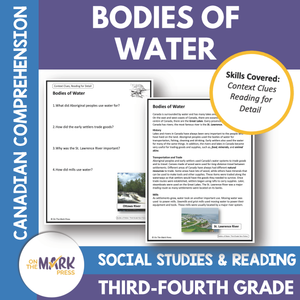 Bodies of Water - A Social Studies Reading Google Slides & Printables Gr. 3-4