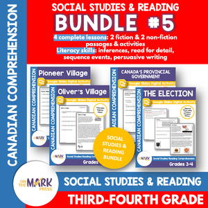 Pioneer Villages, Provincial Government & Elections. Reading Google Bundle Gr. 3-4