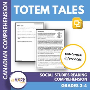 Totem Tales: A Canadian Social Studies Reading Lesson Gr. 3-4 Google Slides