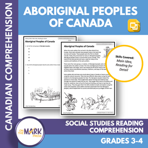 Aboriginal Peoples, Provincial Characteristics & More, Google Slides Gr 3-4 Bundle