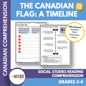 Pioneers, Canada Flag & Missing Home Social Studies Reading Gr. 3-4 Google Slide