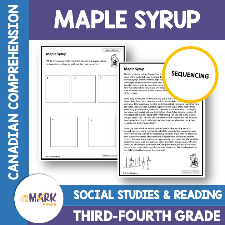 Maple Syrup: A Canadian Social Studies Reading Lesson Gr. 3-4 Google Slides