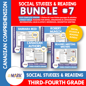 Famous Canadian Authors Reading Bundle Gr. 3-4 Google Slides Distance Learning