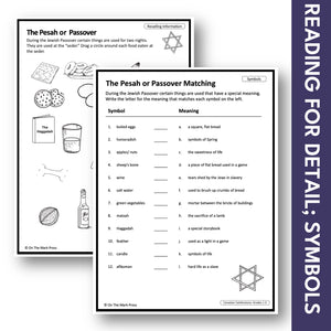 Passover Grades 1-3 Teacher Directed Lesson & Google Slides & Printables