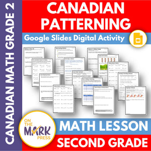 Canadian Patterning Grade 2 Google Slides & Printables