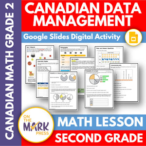 Canadian Data Management Grade 2 Google Slides & Printables
