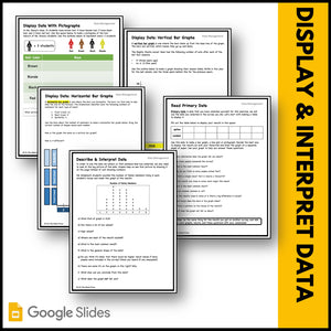 Canadian Data Management Grade 3 Google Slides & Printables