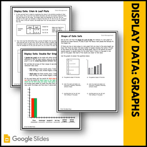 Canadian Data Management Grade 4 Google Slides & Printables