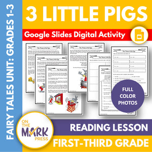 The Three Little Pigs Gr. 1-3 Google Slides & Printables
