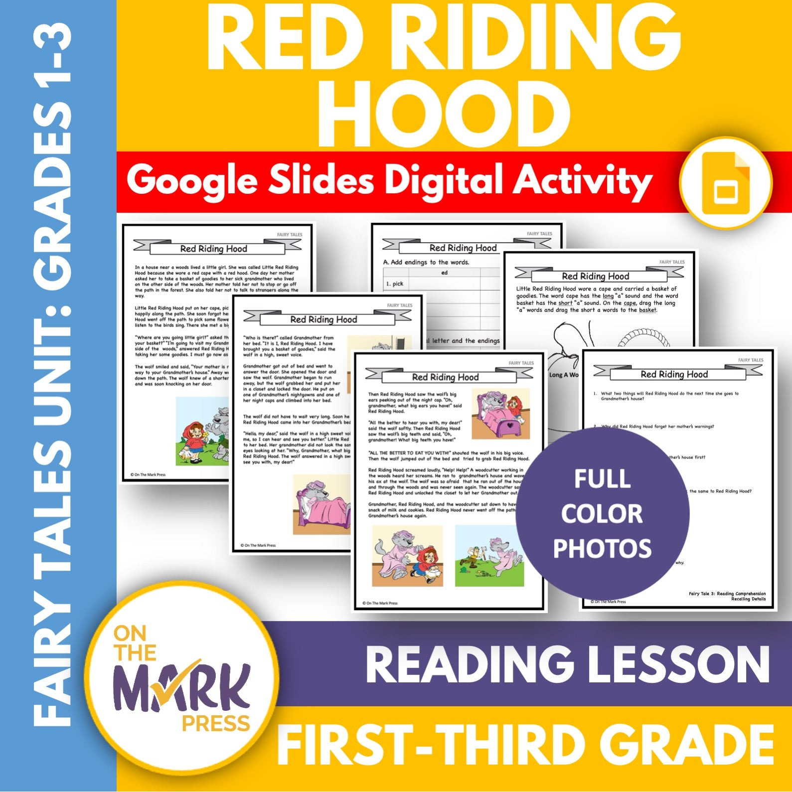 Little Red Riding Hood Gr. 1-3 Google Slides & Printables