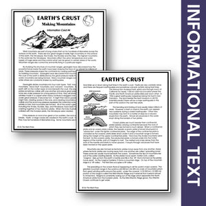 Earth's Crust Making Mountains Grades 6-8 Google Slides & Printables