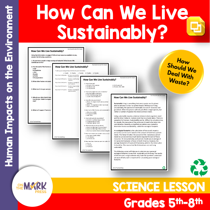 How Can We Live Sustainably? Google Slides Lesson for Distance Learning Gr 5-8