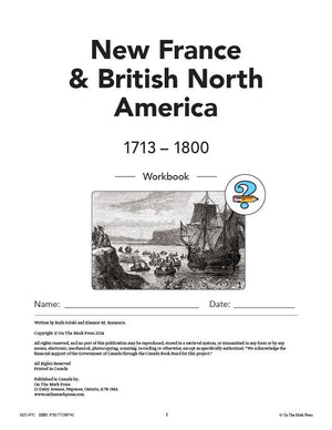 New France & British North America 1713-1800 Grades 7: 10/pk HI/LO workbooks