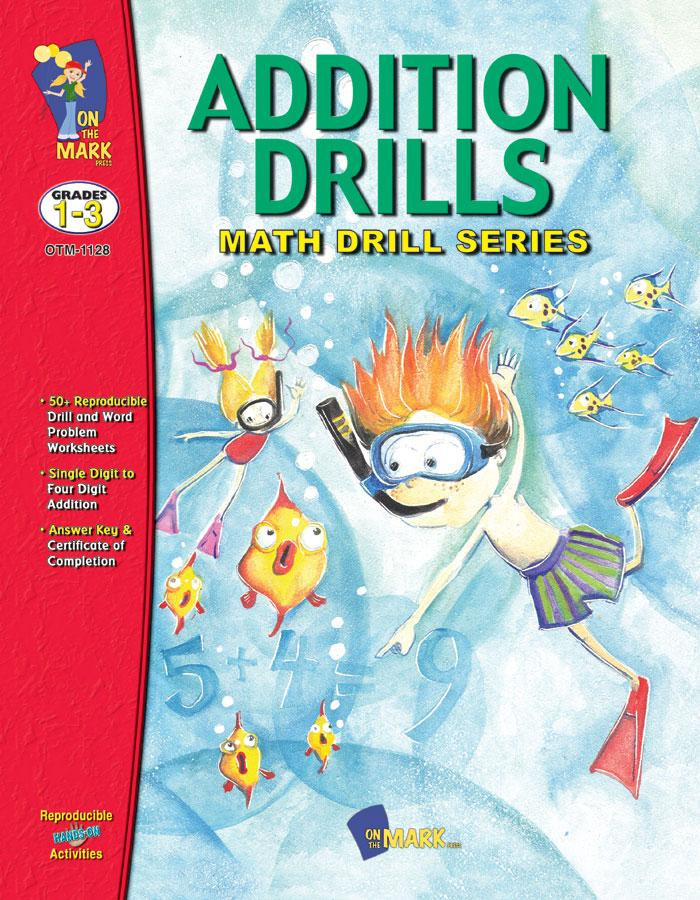 Addition Drills Grades 1-3