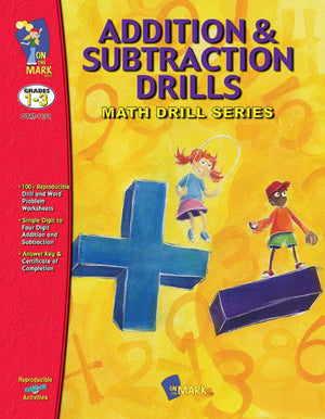 Addition & Subtraction Drills Bundle! Grades 1-3