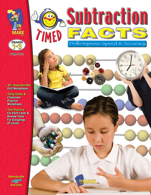 Timed Subtraction Drill Facts Grades 1-3