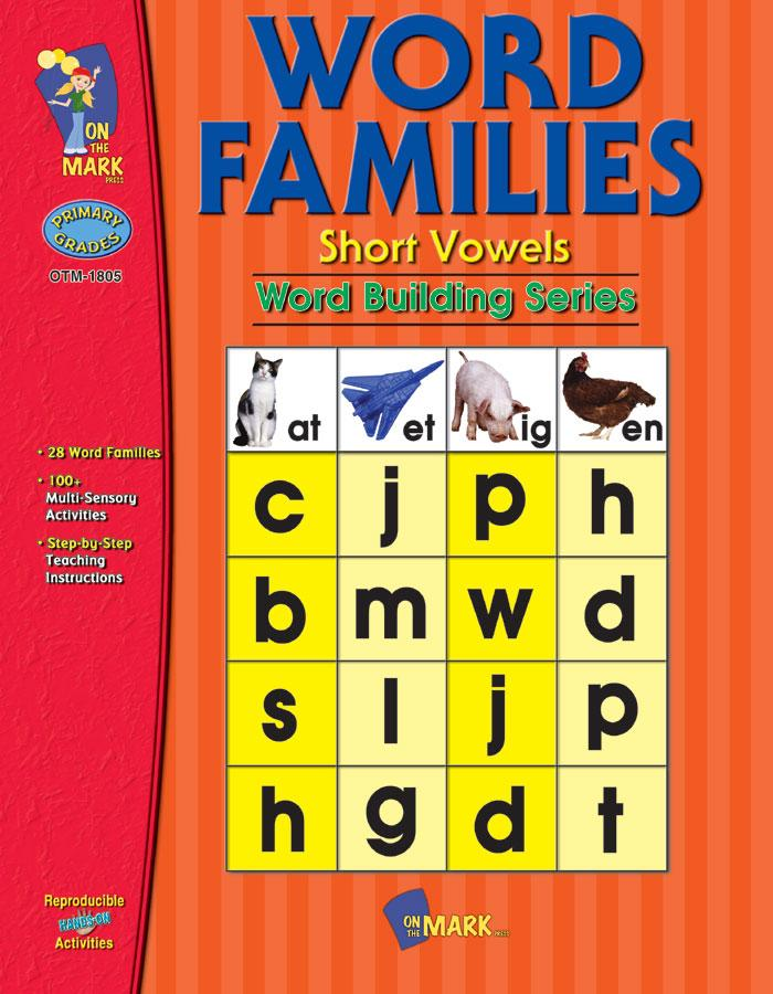 Word Families: Short Vowels Grades 1-2