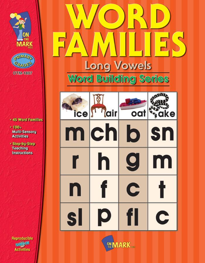 Word Families: Long Vowels Grades 1-2