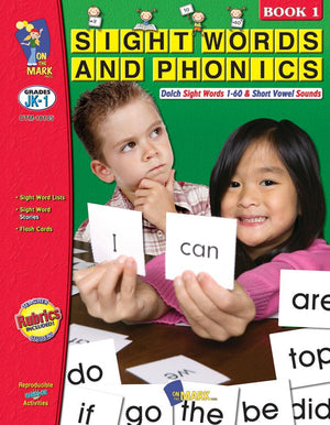 Sight Words & Phonics Book 1 Grades Junior Kindergarten to Grade 1