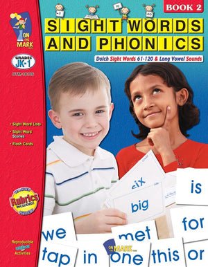 Sight Words & Phonics Book 2 Grades Junior Kindergarten to Grade 1