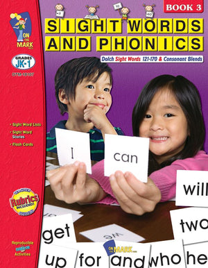 Sight Words & Phonics Book 3 Grades Junior Kindergarten to Grade 1