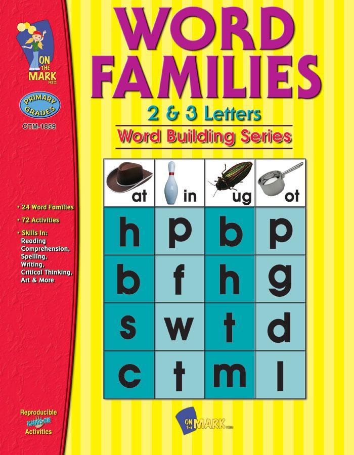 Word Families 2 & 3 Letters Grades 1-3