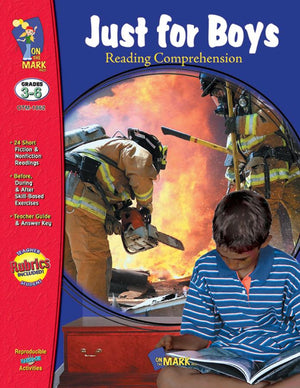 Just for Boys Grades 3-6 Reading Comprehension