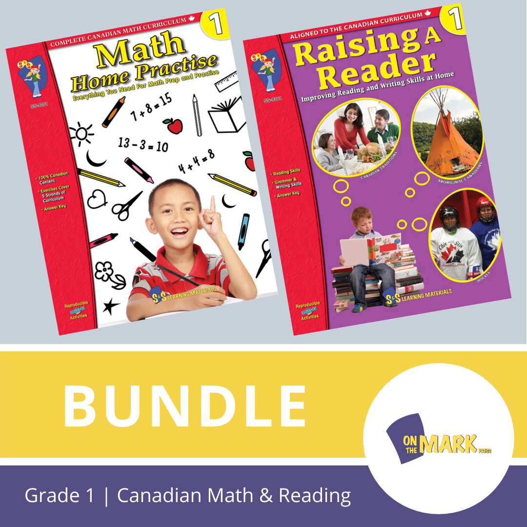 Grade 1 Canadian Math & Reading Practise Bundle!