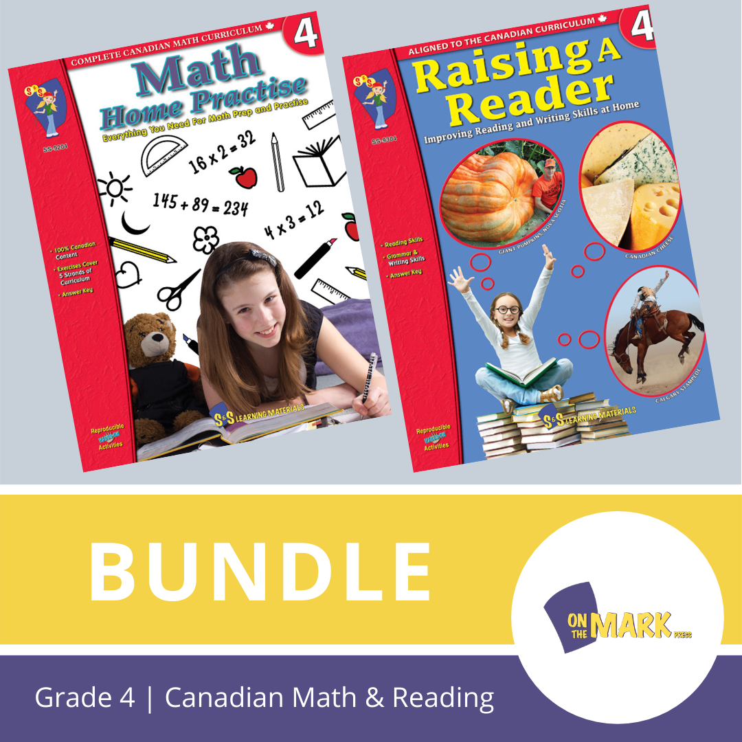 Grade 4 Canadian Math & Reading Practise Bundle!