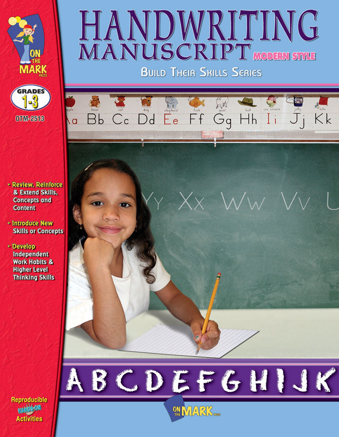 Modern Manuscript Handwriting Build Their Skills Workbook Grades 1-3