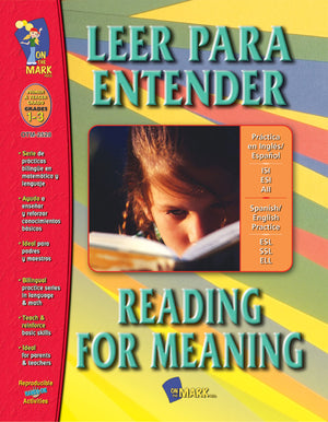 LEER PARA ENTENDER/READ FOR MEANING SPANISH/ENGLISH GR. 1-3