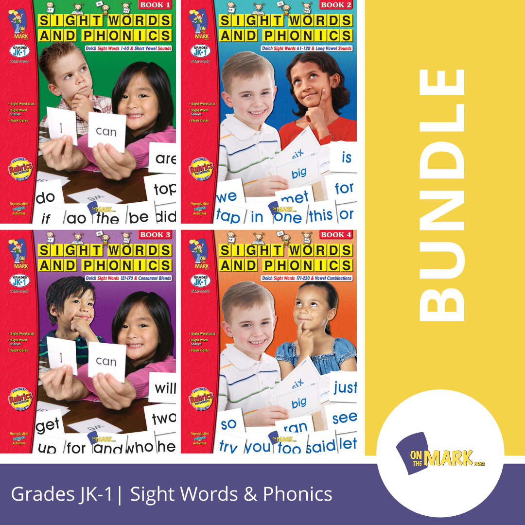 Sight Words & Phonics - 4 Book Bundle! Teach 220 Dolch Sight Words!