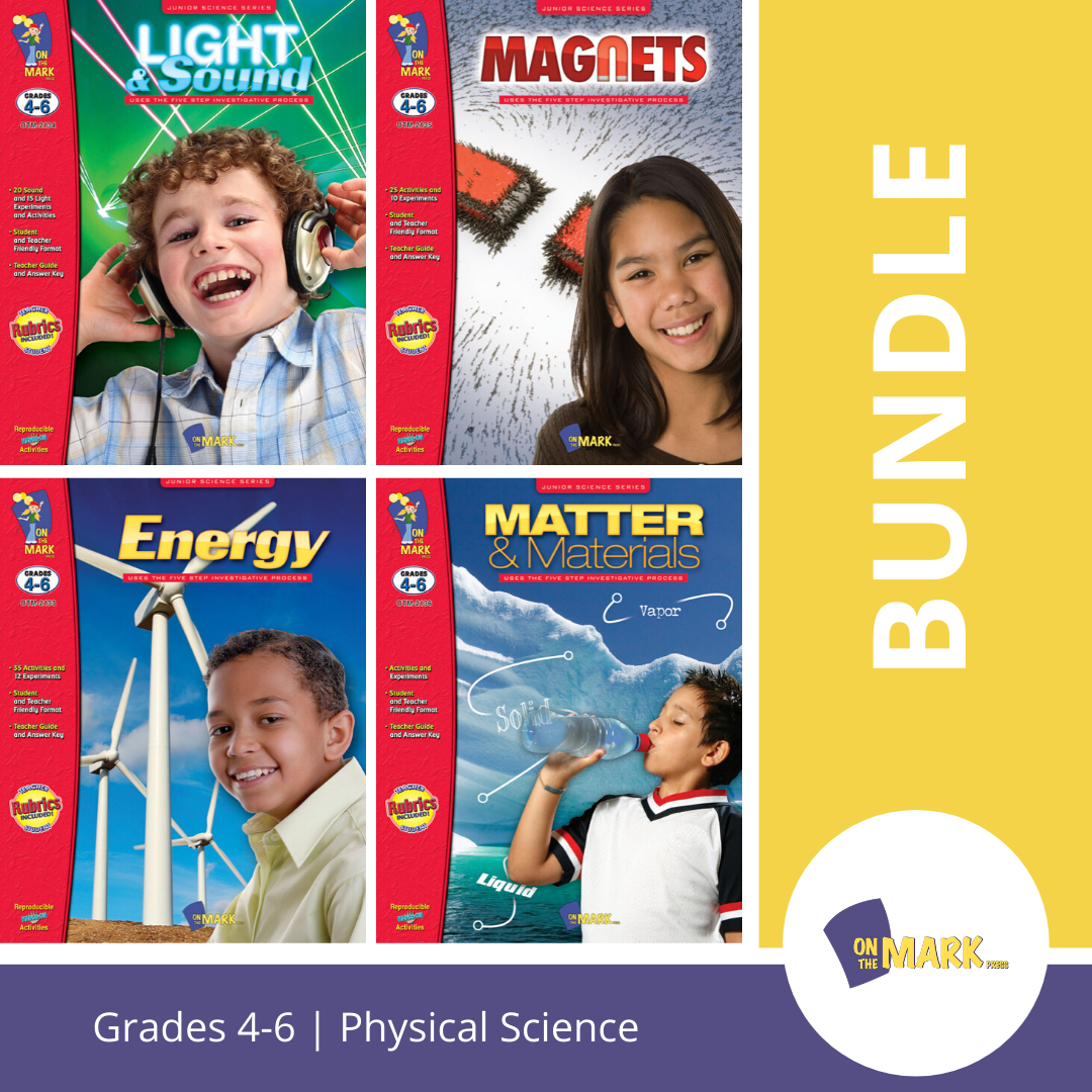 Physical Science Grades 4-6 -  4 Book Bundle!