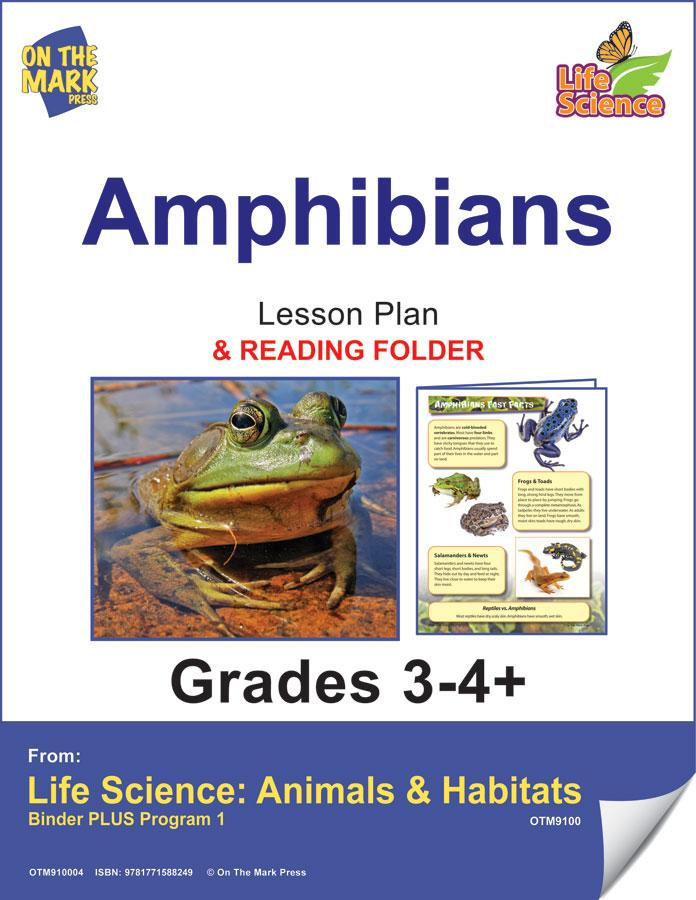 Amphibians Activities & Fast Fact Reading Folder Grades 3+