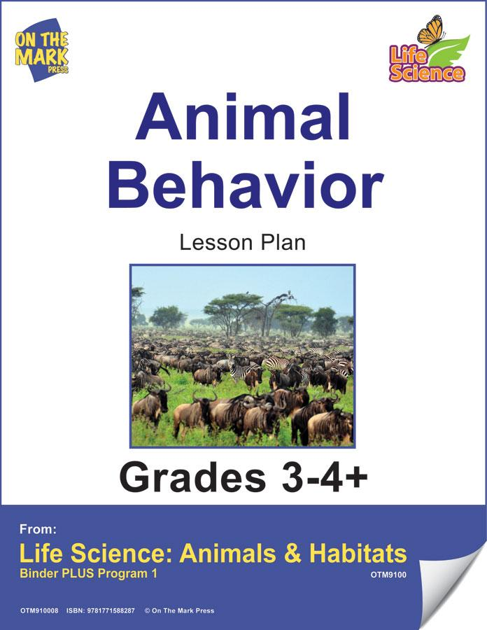 Animal Behavior Activities Grades 3+