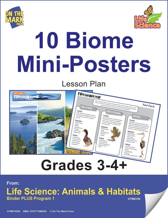 10 Life Biome Full Color Mini-Posters Grades 3+