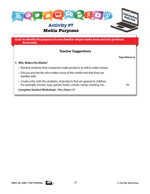 Canadian Media Literacy Grades 2-3