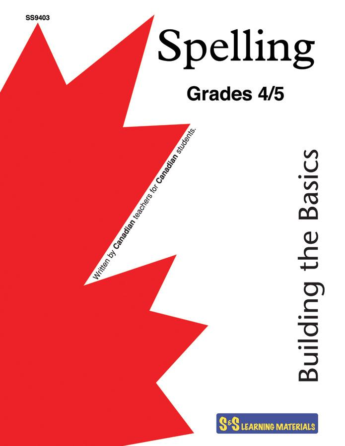 Spelling Grades 4/5: Building the Basics Workbook