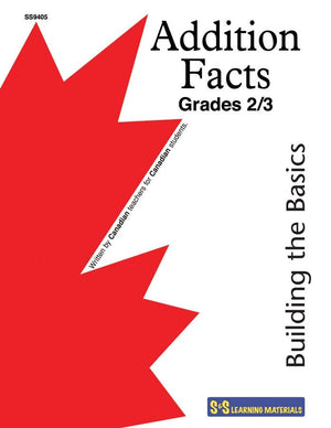 Addition Facts Grades 2/3 - Building the Basics Workbook #1
