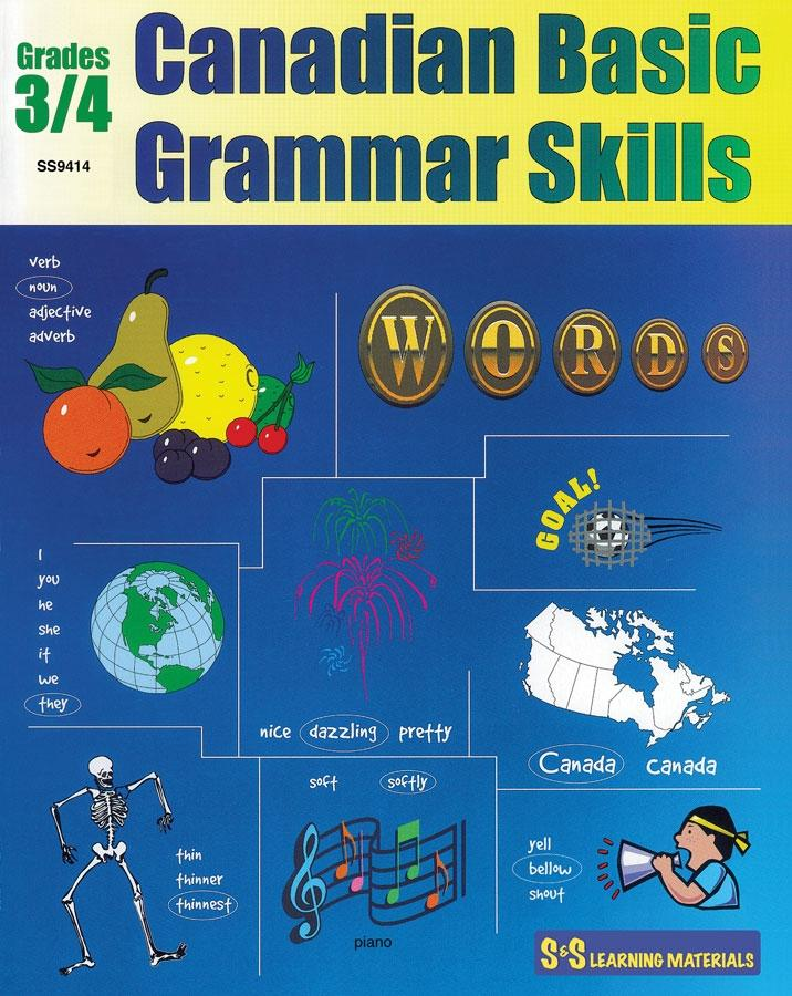 Canadian Basic Grammar Skills Grades 3/4 - Building the Basics Workbook